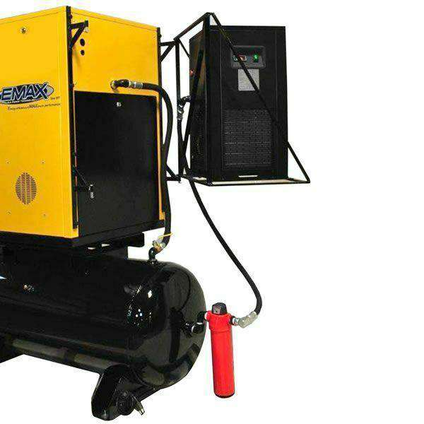 EMAX  ERSK100003 10 HP 120 Gal. 208/230V 3-Phase Rotary Screw Air Compressor Full Package with Dryer New