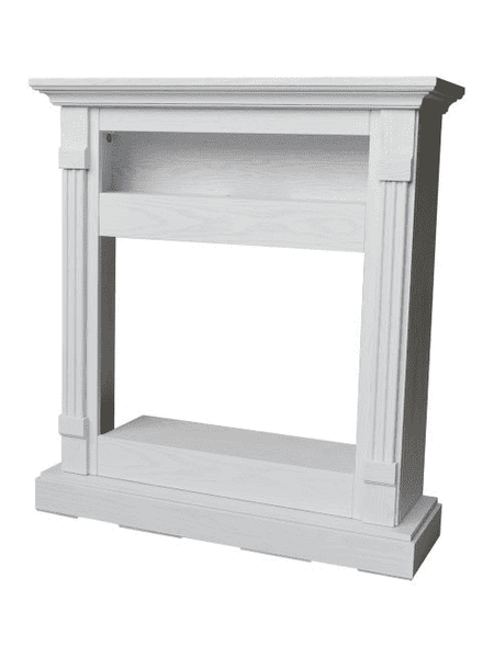 Cambridge CAM3437-1WHT Sienna Electric Fireplace Mantel with Fireplace Insert White New