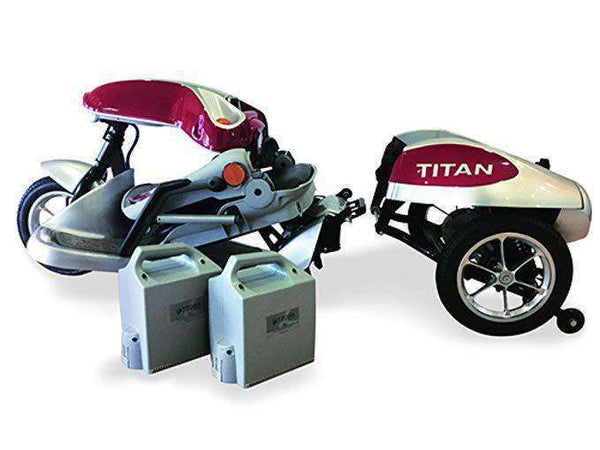 Tzora Titan 3 Wheel Heavy Duty Folding Mobility Scooter Red New