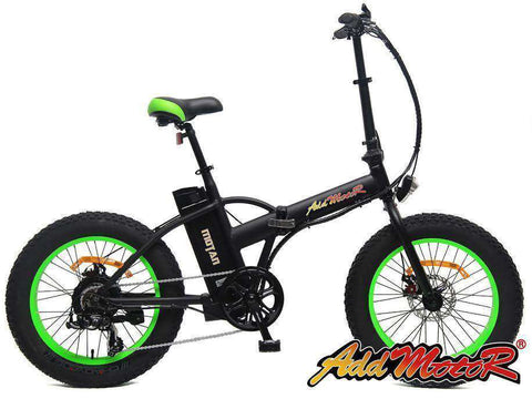 Addmotor MOTAN M150 48V 500W Folding Electric Fat Tire Bike Green New