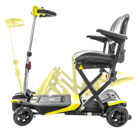 Enhance Mobility Transformer Electric Folding Mobility Scooter Yellow New