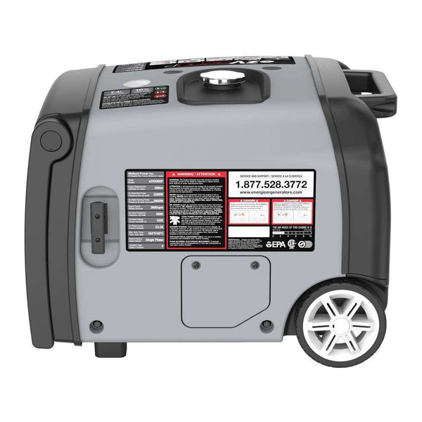 Energizer EZV3200P 3200W Gas Powered Inverter Generator with Remote Start New
