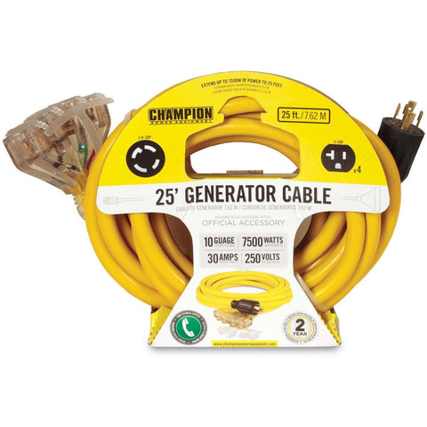 Champion 48036 25FT Generator Cord - FactoryPure - 2