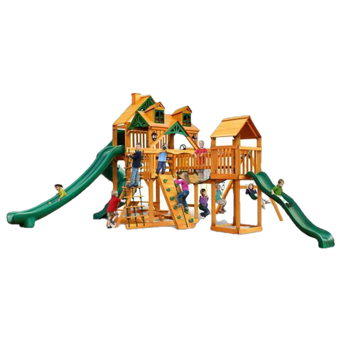Gorilla Playsets 01-0078-AP Malibu Treasure Trove II Swing Set and Residential Wood Playset New
