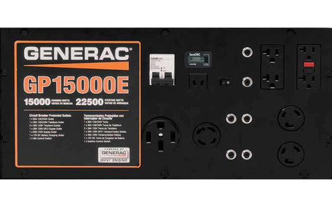 Generac GP15000E 15000W/22500W Generator Electric Start RFB