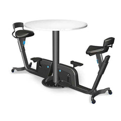 LifeSpan Duo Collaborative Adjustable Office Fitness System 2 Bike Table with wheels New