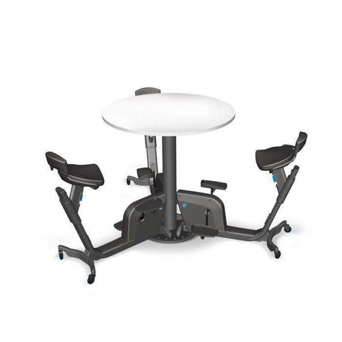 LifeSpan TRIO Collaborative Adjustable Office Fitness System 3 Bike Table with Wheels New