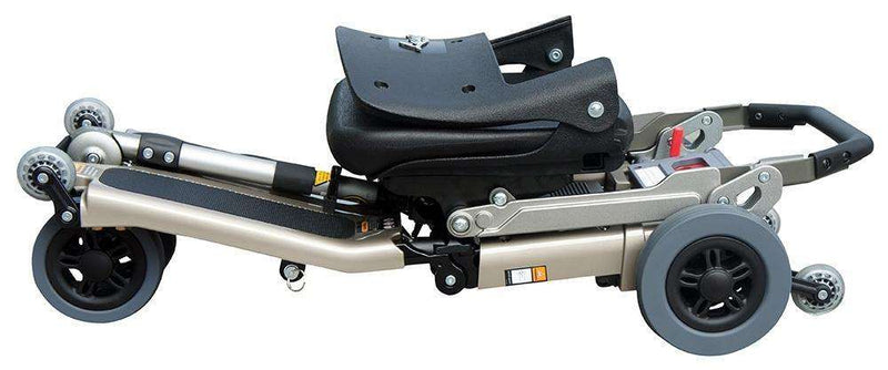 Luggie Standard Folding Travel Scooter Champagne Open Box