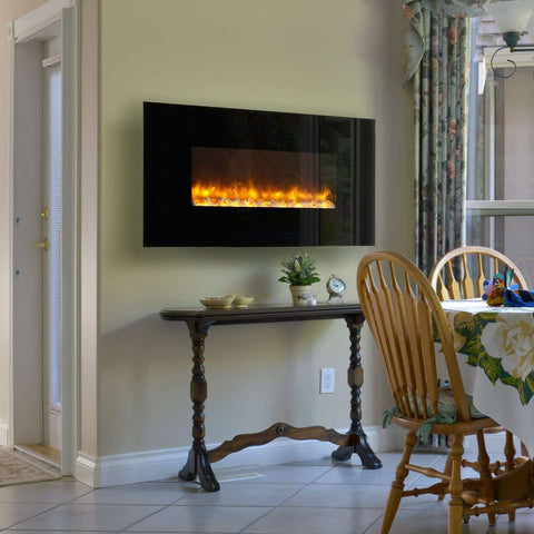 Dynasty EF68-P Contemporary 50 Inch Wall Mount Electric LED Fireplace New