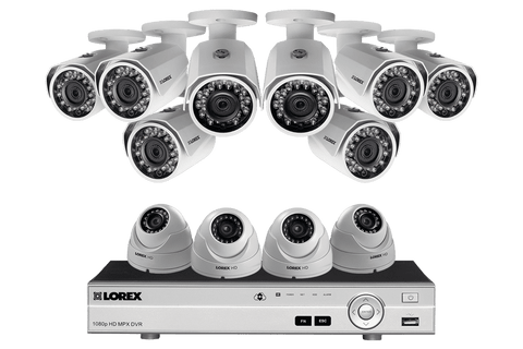 Lorex MPX1684DW 12 Camera 16 Channel HD 1080P DVR Surveillance Security System New