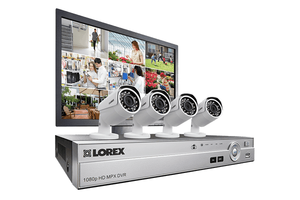 Lorex MPX84MW 1080P 4 Camera 8 Channel 2 TB MPX DVR Security Surveillance Camera System New
