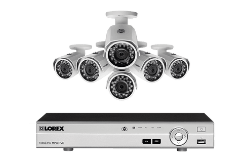 Lorex MPX86W 1080P HD Weatherproof 6 Camera 8 Channel 2 TB MPX DVR Surveillance Security System New