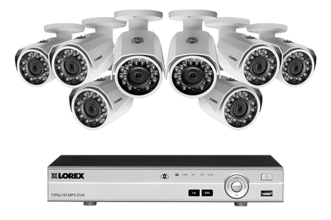 Lorex MPX88W 1080P 8 Camera 8 Channel DVR Surveillance Security System New