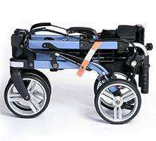 New EV Rider Move-X Rollator 4 Wheel Walker Blue/Black