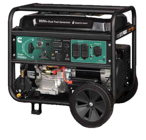 Cummins Onan P9500DF 7500W/9500W A058U967 Portable Dual Fuel Remote Start Generator New