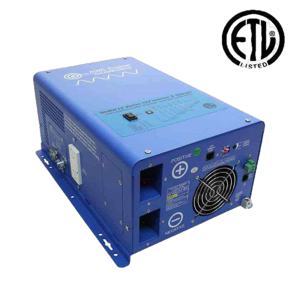 Aims Power PICOGLF10W12V120V 1000 Watt Pure Sine Inverter Charger - ETL Listed to UL 458 New