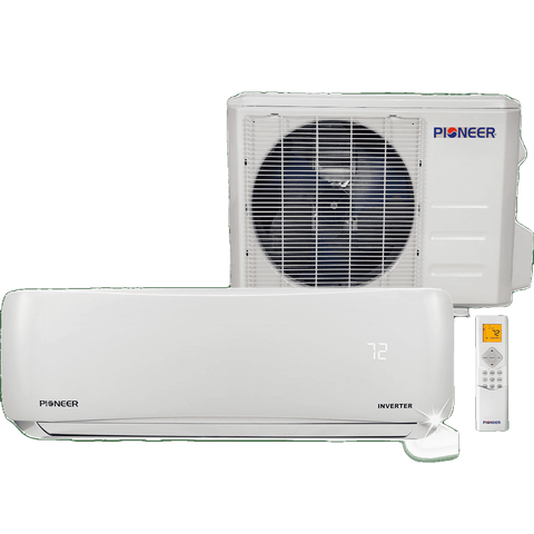 Pioneer WYS009GMFI19RL 9000 BTU 18 SEER 230V Ductless Mini-Split Air Conditioner Heat Pump System Full Set New