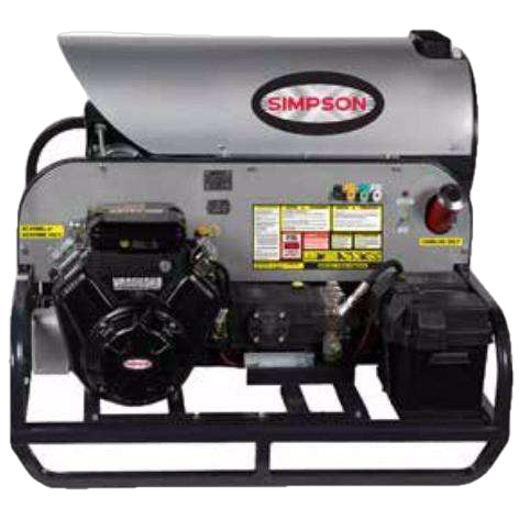 Simpson Brute Series 3500 PSI VANGUARD V-Twin Hot Water Pressure Washer - FactoryPure