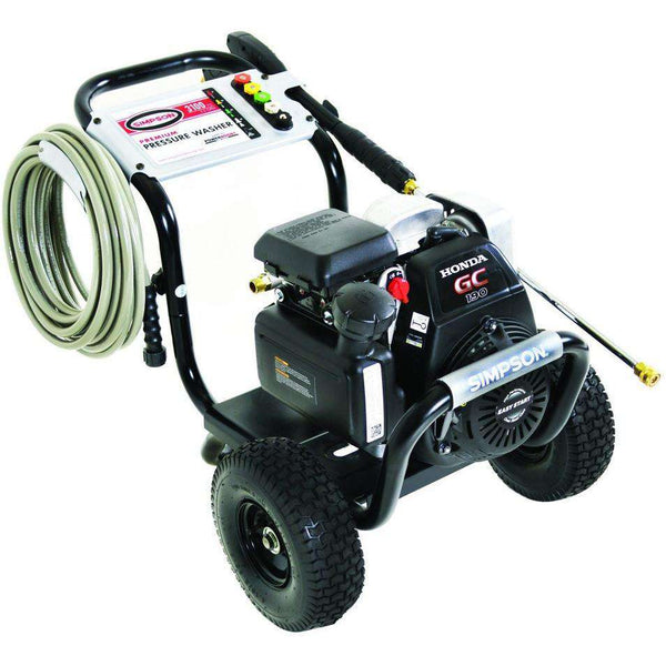 Simpson Megashot 3100 Psi Honda Gc190 Gas Pressure Washer