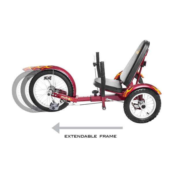 Mobo Triton TRI-001R The Ultimate Three Wheeled Cruiser Red New