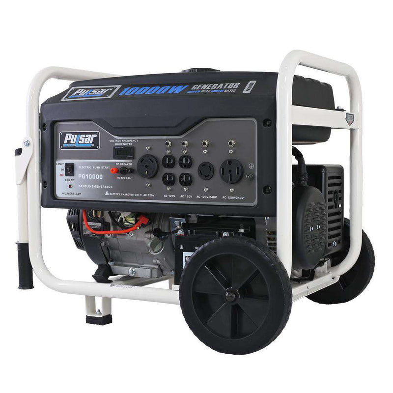 Pulsar PG10000 10000W/8000W Gas Electric Start Portable Generator New