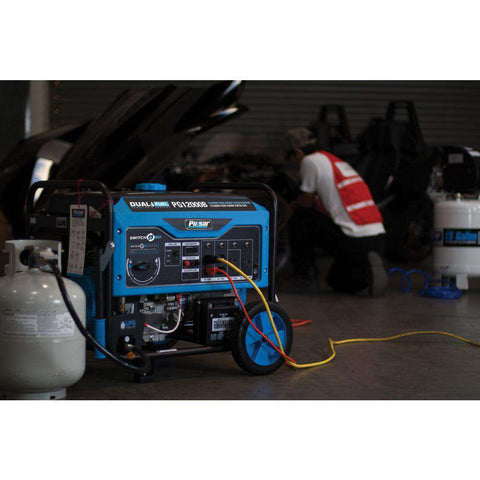 Pulsar Products PG12000B 12000W/9500W Dual Fuel Electric Start Portable Generator New