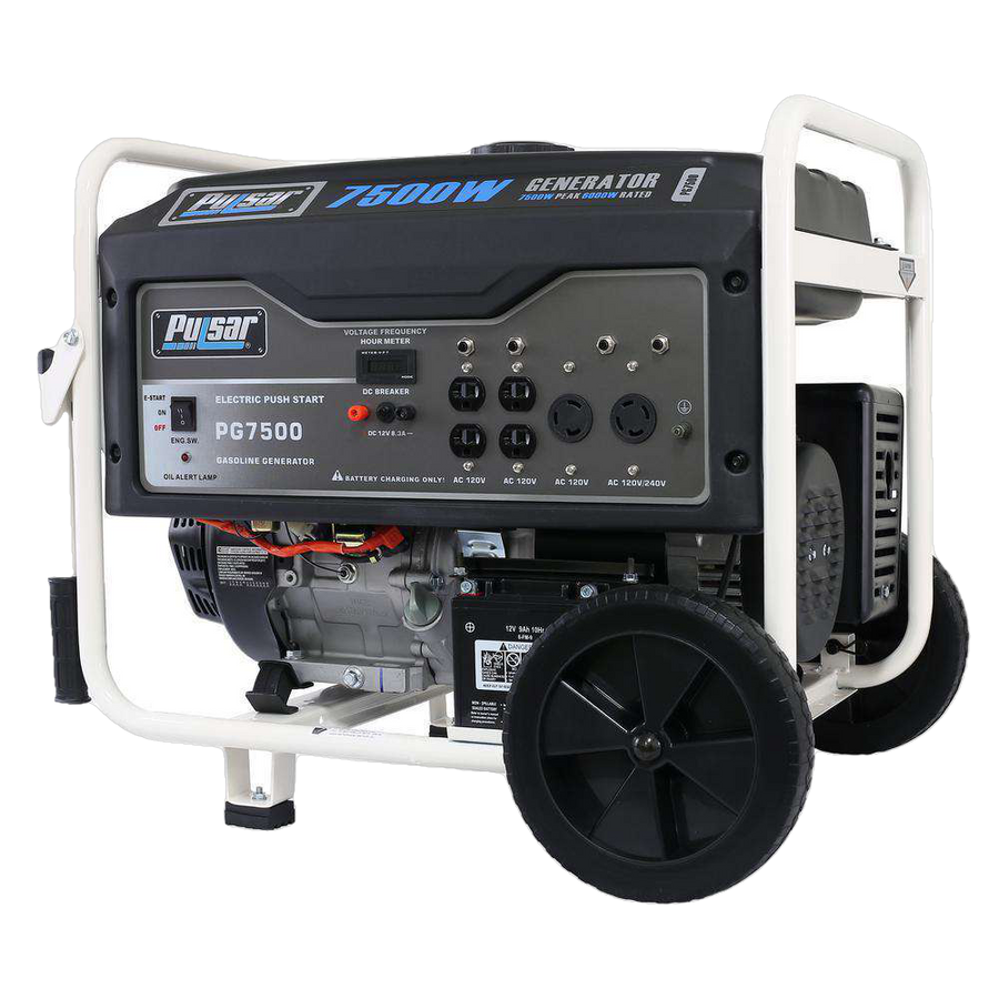 Pulsar PG7500 7500W/6000W Gas Electric Start Portable Generator New
