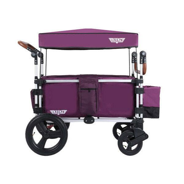 Keenz 7s 5-Point Harness Light Weight Stroller Wagon with Canopy Purple New