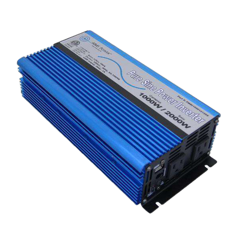Aims Power PWRI100012120S 1000 Watt Pure Sine Power Inverter w/ USB Port & Remote Port New