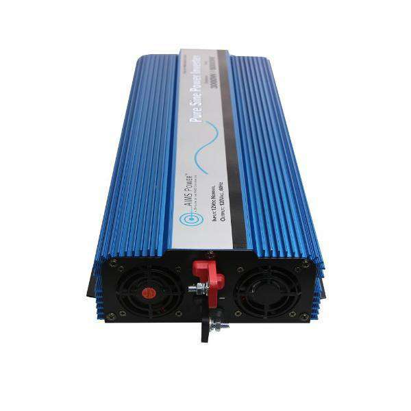 Aims Power PWRI300012120SUL 3000 Watt Pure Sine Inverter w/ USB & Remote Port UL Listed to 458 New