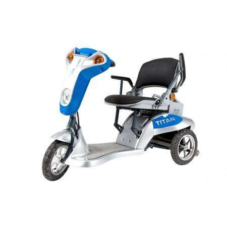 Tzora Titan 3 Wheel Heavy Duty Folding Mobility Scooter Blue New