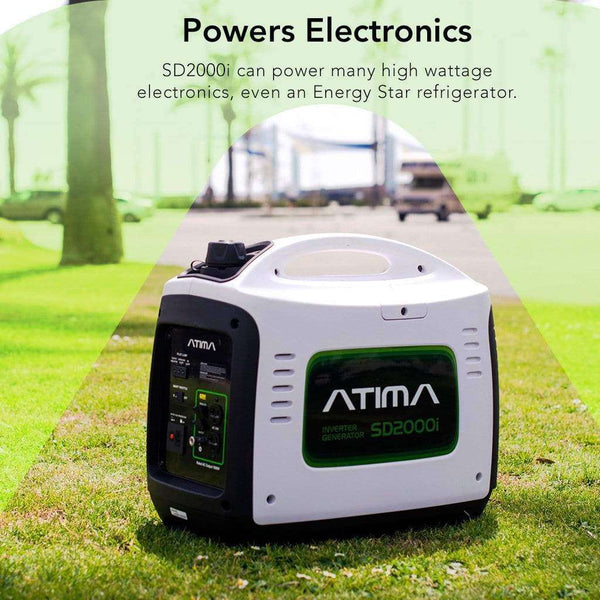 Atima SD2000i 1600W/2000W Engine Portable Gas Inverter Generator New