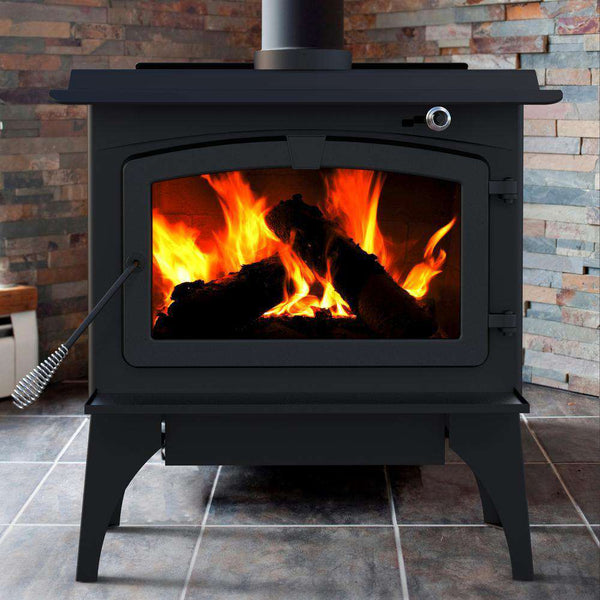 Pleasant Hearth LWS-127201 1,800 Sq. Ft. Medium 65,000 BTU EPA Certified Wood-Burning Stove with Blower New