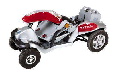 Tzora Titan Hummer XL 4 Wheel Heavy Duty Folding All Terrain Mobility Scooter Red New
