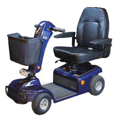 Shoprider 888B-4 Sunrunner 4-Wheel Mobility Scooter New Blue