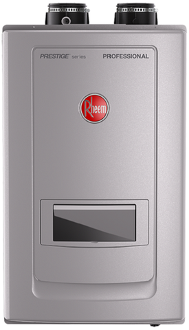 Rheem RTGH-RH11DVLP 11 GPM Prestige Series Condensing Indoor Direct Vent Propane Tankless Water Heater with Built-In Recirculation New