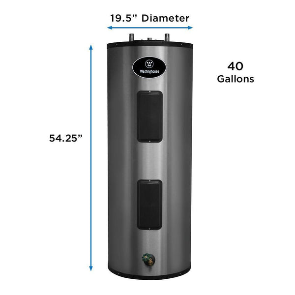 Westinghouse WER040C2X045N 40 Gal. Lifetime 5500W Electric Water Heater with Durable 316l Stainless Steel Tank New