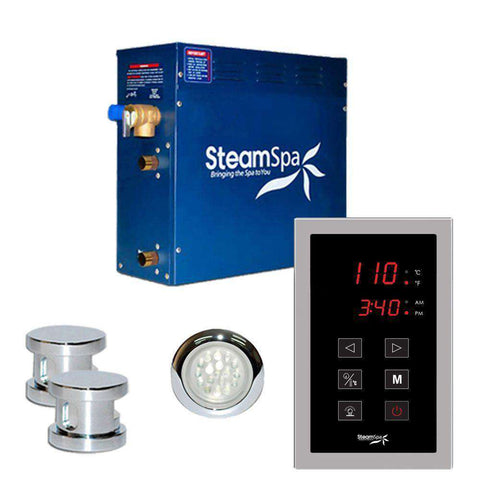 SteamSpa INT1200CH Indulgence 12kW Touch Pad Steam Generator Chrome New