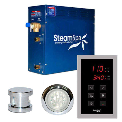 SteamSpa INT600CH Indulgence 6kW Touch Pad Steam Generator Chrome New