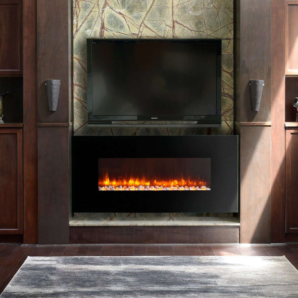 Dynasty EF69-P Contemporary 58 Inch Wall Mount Electric LED Fireplace New
