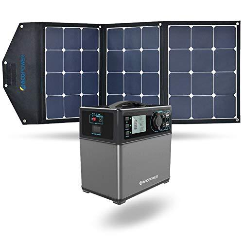 ACOPOWER HYPS5B-HY12P3X35W 400Wh Generator Power Supply and 105W Portable Solar Panel New