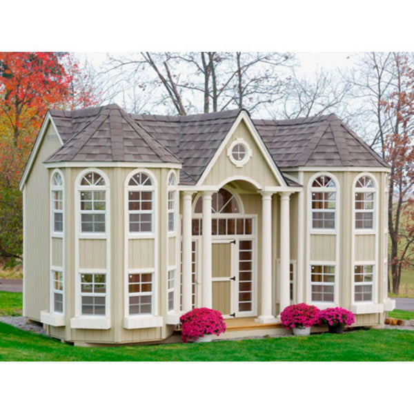 Little Cottage Company 10 ft. x 16 ft. Grand Portico Mansion Wood Playhouse DIY Kit New