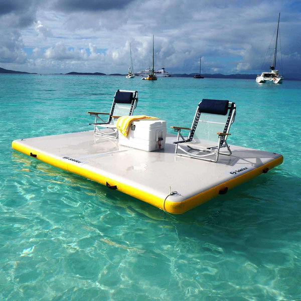 Swimline Solstice 30805 8 x 5 ft. Floating Lounge Dock New