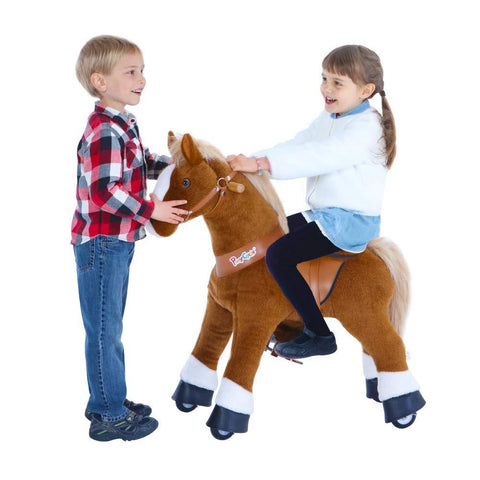 PonyCycle Vroom Rider U Series U324 Ride-on Brown with White Hoof Small New