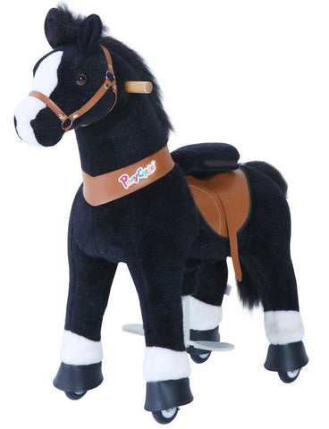 PonyCycle Vroom Rider U Series U326 Ride-On Pony Black With White Hooves Small New