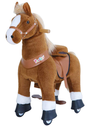 PonyCycle Vroom Rider U Series U424 Ride-on Brown with White Hoof Large New