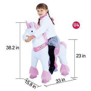PonyCycle Vroom Rider U Series U302 Ride-On Pink Unicorn Small New