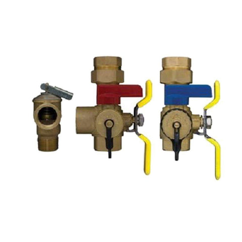 Webstone H-44443WPR 3/4 IPS Tankless Water Heater Valve Kit With Pressure Relief New