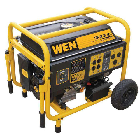 WEN 56877 9000W/7000W Gas Generator with Electric Start and Wheel Kit New
