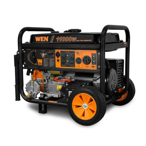 WEN DF1100T 11000W/8300W Dual Fuel Portable Generator with Wheel Kit and Electric Start New